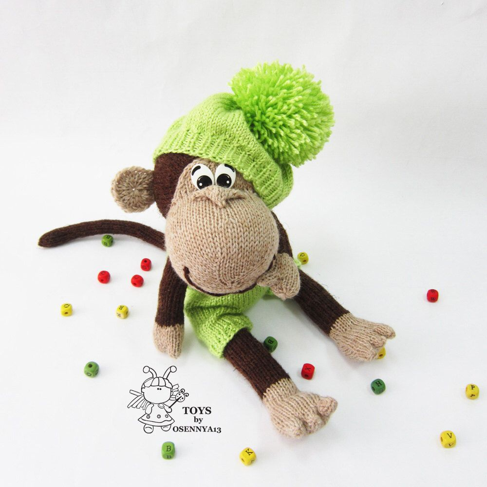 Naughty monkey-knitting pattern (knitted round) by simplytoys13 on ...