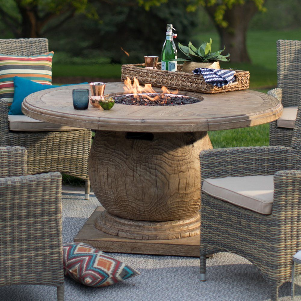 Belham Living Leland 54 Diam Patio Dining Fire Table With Free