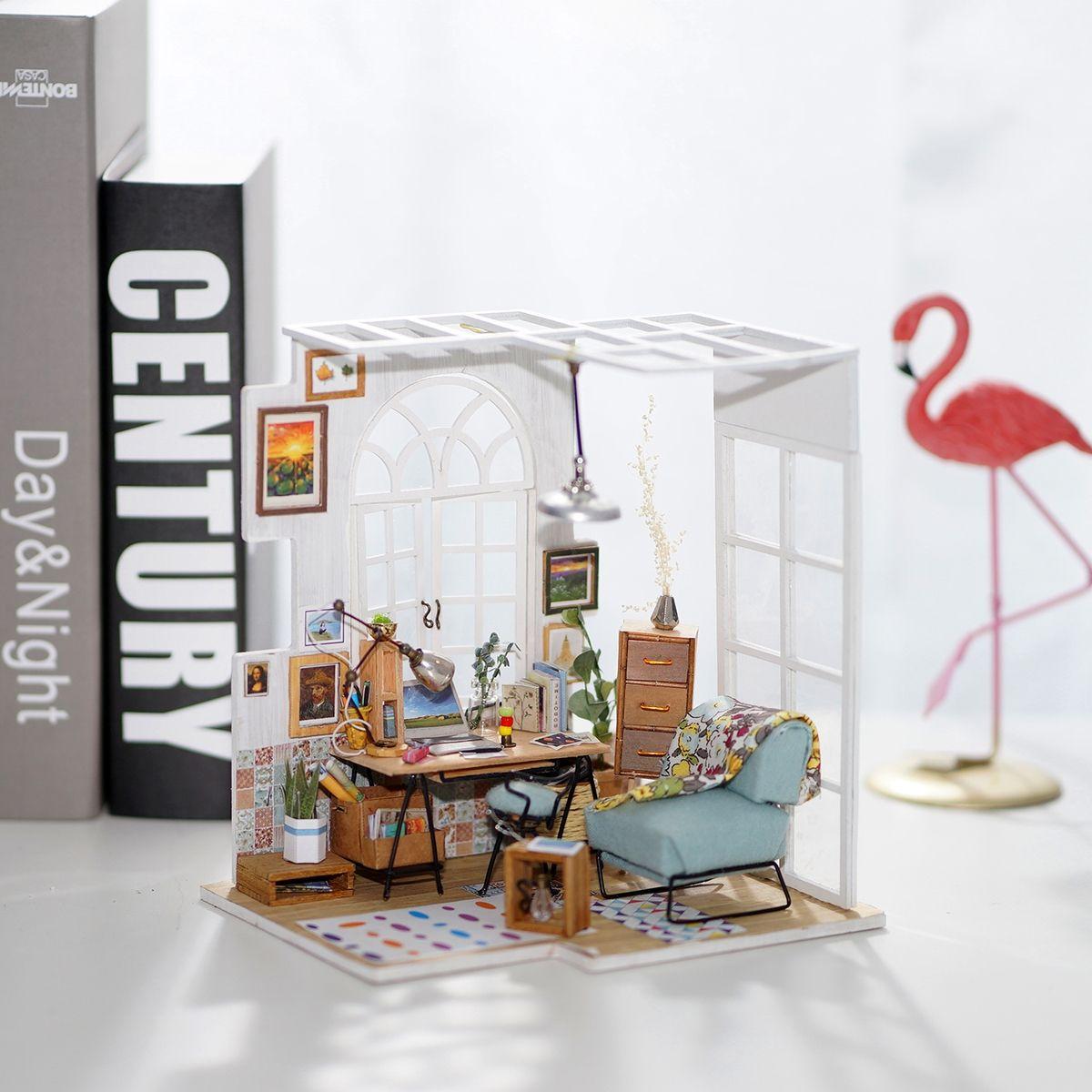 DIY Handmade Toy Miniature Doll House Kit 124 Wooden