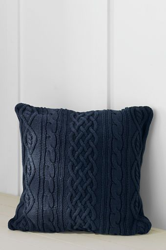 40 X 40 Lakeland Cotton Cable Decorative Pillow Cover Or Insert Awesome Lands End Decorative Pillows
