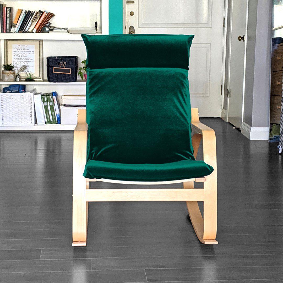 Ikea Poang Velvet Dark Green Upholstered Furniture Ikea Chair Cover