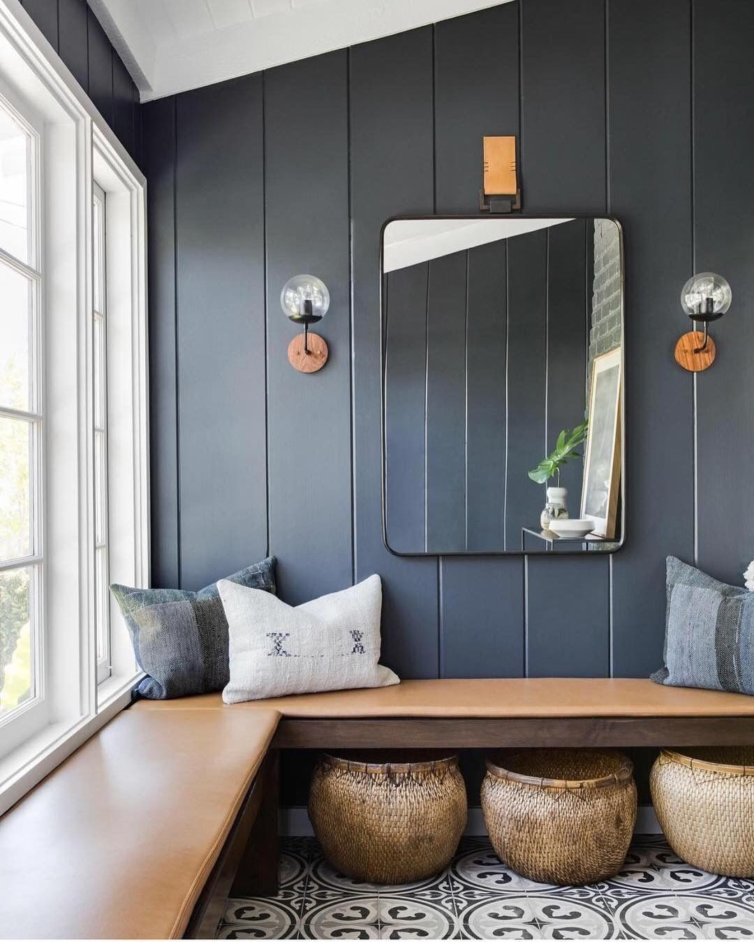 Feast Your Eyes Gorgeous Dining Room Decorating Ideas: Vertical Wide Shiplap Planks To Trick Your Eyes Into