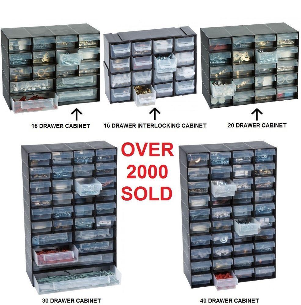 Multi Drawer Storage Cabinet Unit Small Parts Nail Screw Craft Bits Organiser
