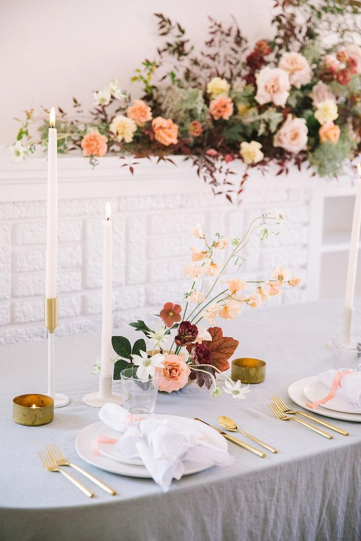Modern Wedding Florals with Earth Tones | Modern wedding ...