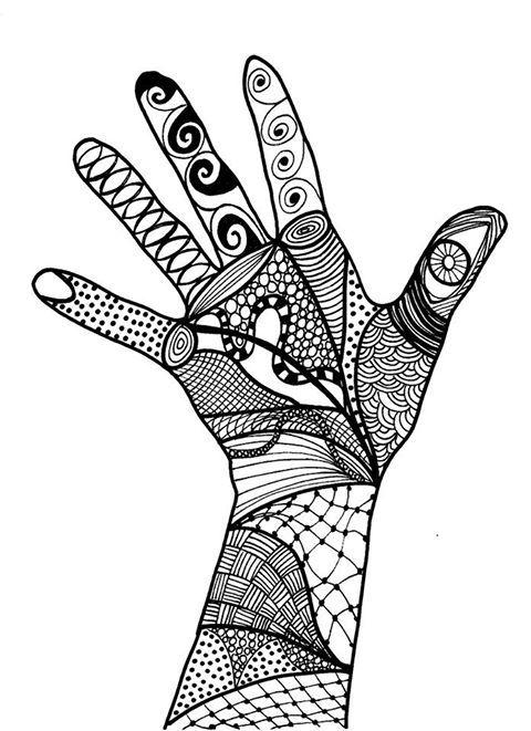 My hands.......in ink ...