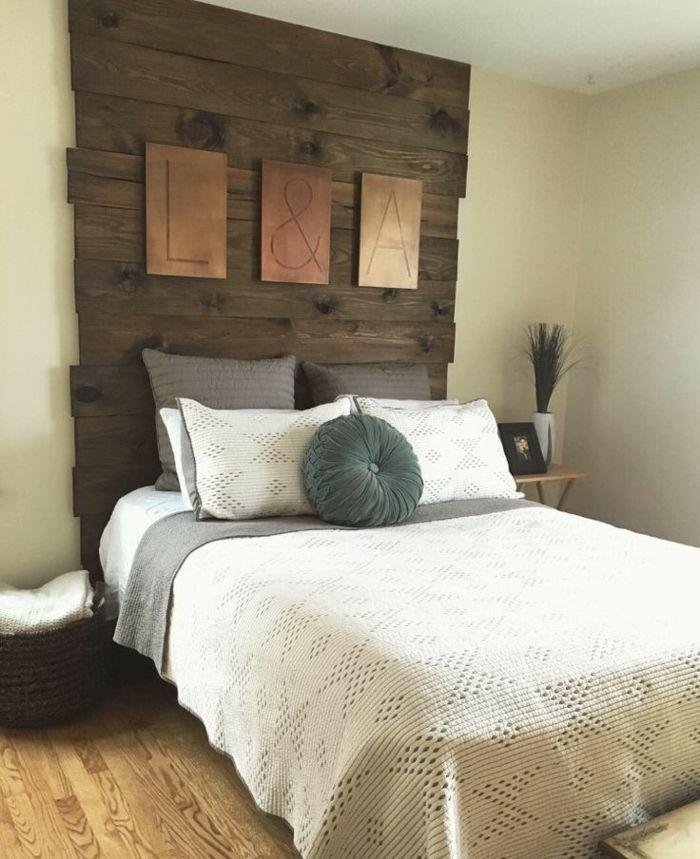 1001 ideas de cabeceros originales que pueden adornar tu habitaci n dormitorios pinterest - Cabezales de cama de madera ...