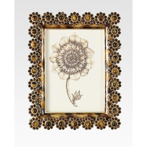 Jay Strongwater Jeweled Flower Frame ($595) ❤ liked on Polyvore