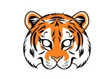Tigermaske Zum Ausdrucken Masken Basteln Masken Vorlage Masken Vorlagen