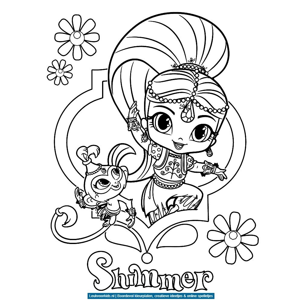 Leuk Voor Kids Shimmer En Tala Kleurplaten Gratis Kleurplaten Kleurboek