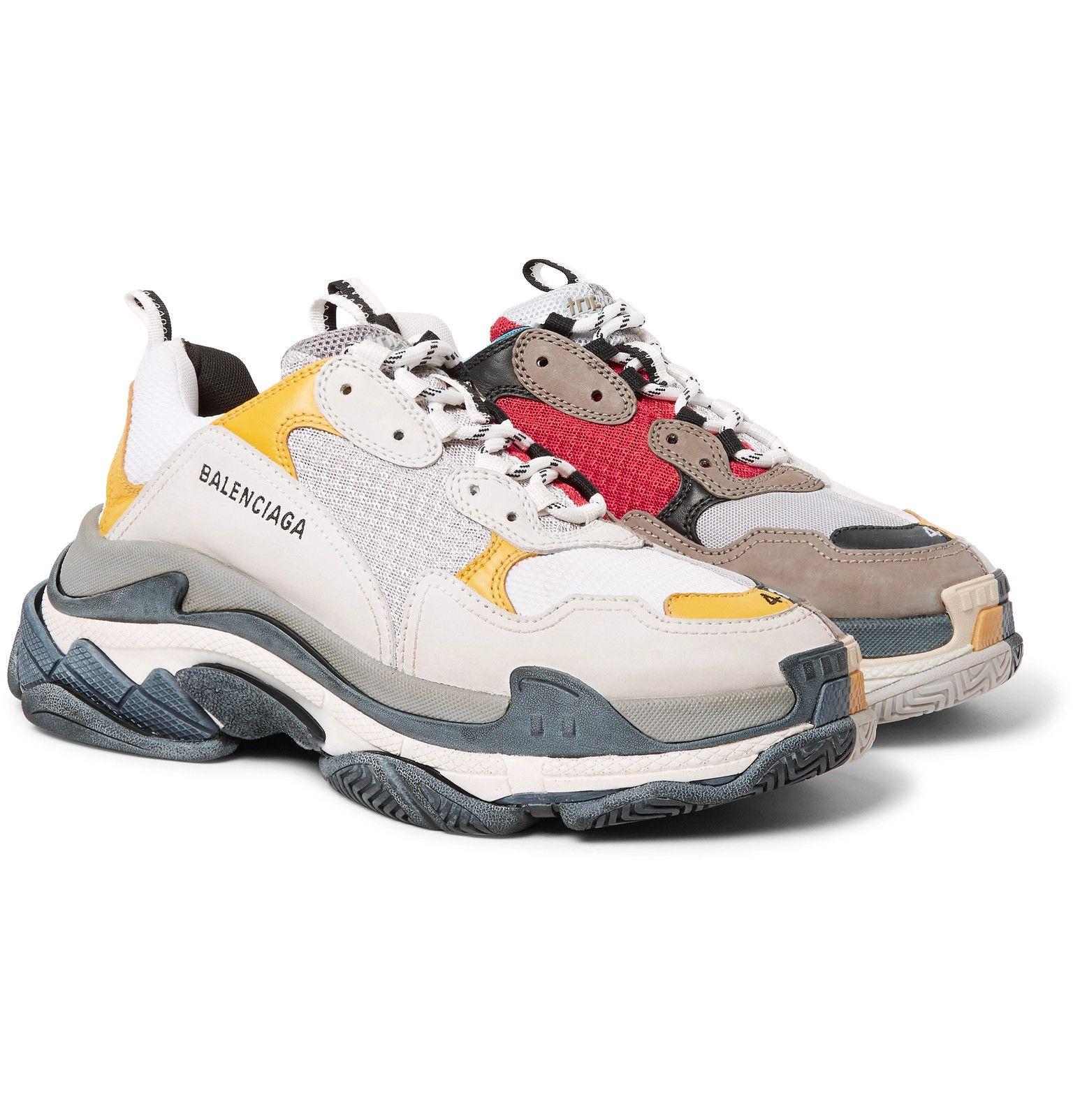 Ardiente Orgullo Anual  Balenciaga - Triple S Mesh, Nubuck and Leather Sneakers - Men - Multi |  Balenciaga shoes mens, Sneakers, Balenciaga shoes