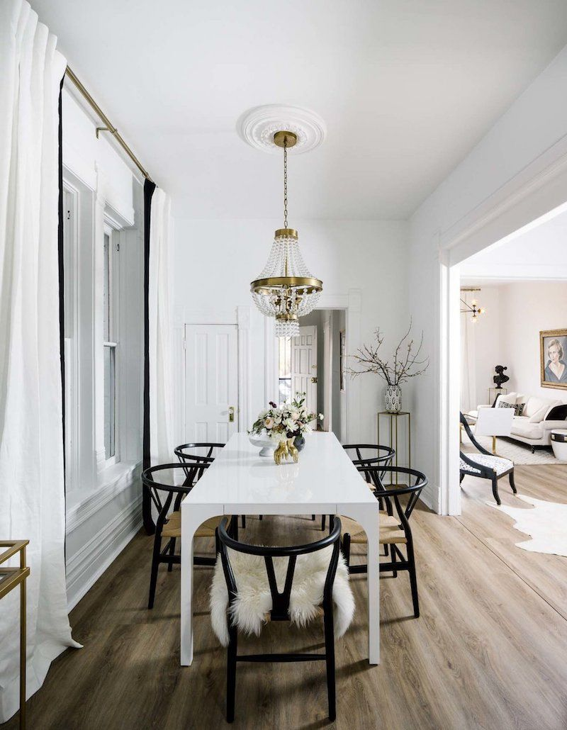 A Denver Designer S Sophisticated Modern Apartment White Dining