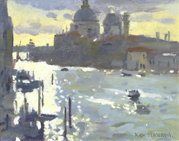 Ken Howard R.A. (British, born 1932) 'Grand Canal, morning'