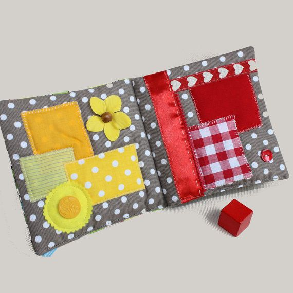 Quiet Book Colors Sensory Busy Book Fabric Baby Book | Gifting ...