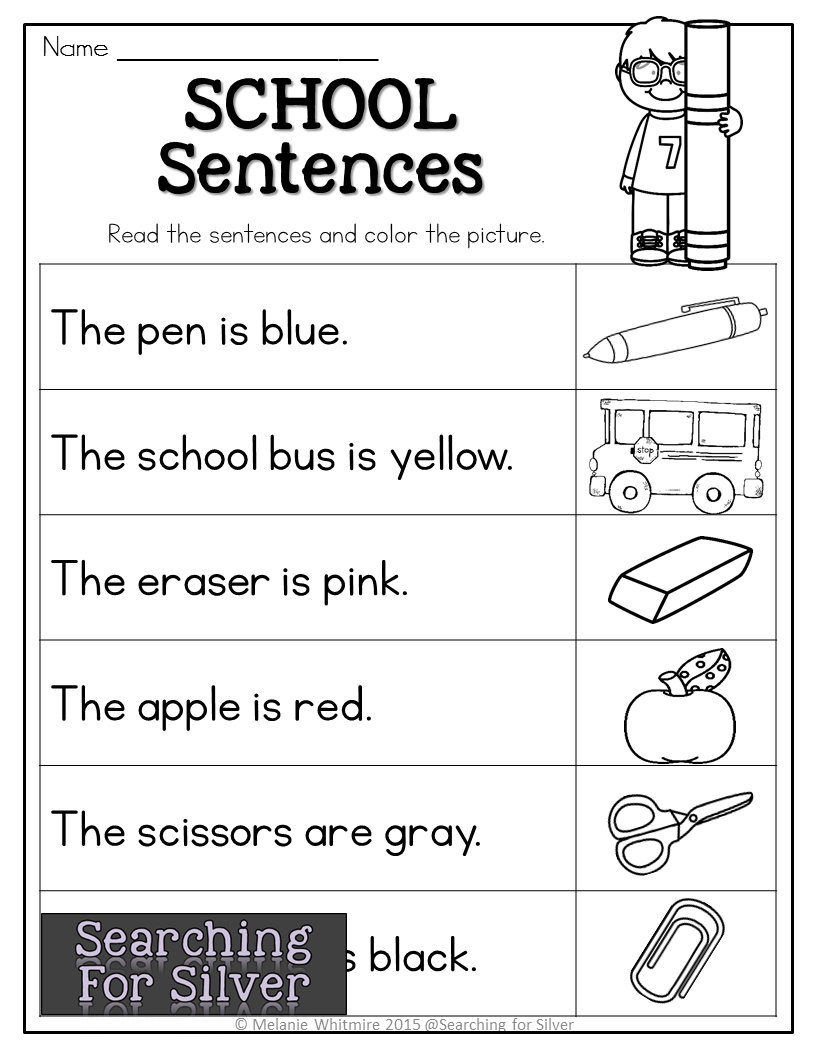 hight resolution of School sentences