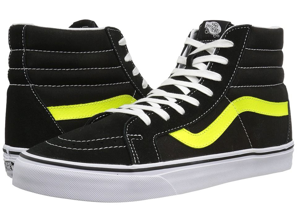 VANS VANS - SK8-HI REISSUE ((NEON LEATHER) BLACK/NEON YELLOW