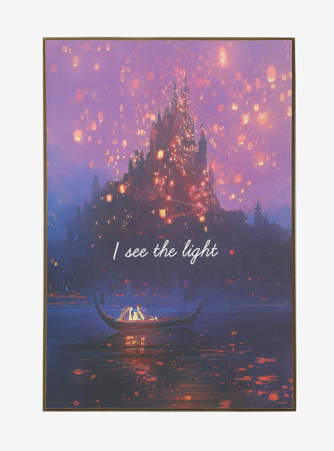Disney tangled i see the light wood wall art disney pinterest