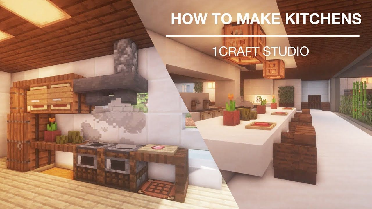 Minecraft How To Make A Kitchen In Minecraft Top 3 Easy Ways Interi In 2021 Minecraft Building Minecraft Diy Interior