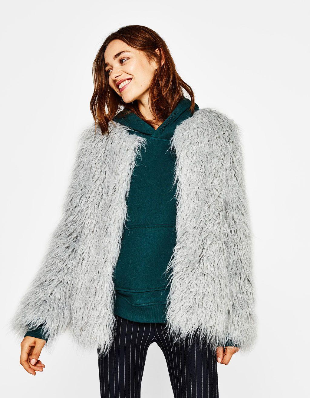 f434f16ad507 Short faux fur coat - Coats - Bershka United States