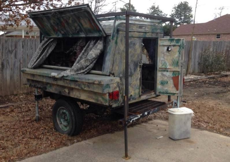 Lots Of Way To Do Compact Camping Here A Flat Bed Trailer