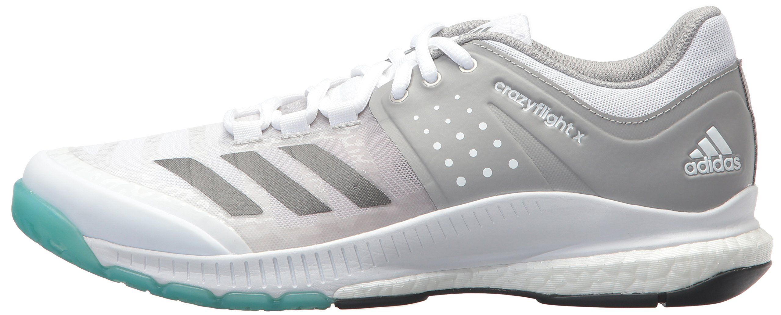 Adidas Womens Crazyflight X Volleyball Shoewhite Night Metallic Grey7 M Us Check This Awesome Product By Adidas Women Volleyball Shoes Best Volleyball Shoes