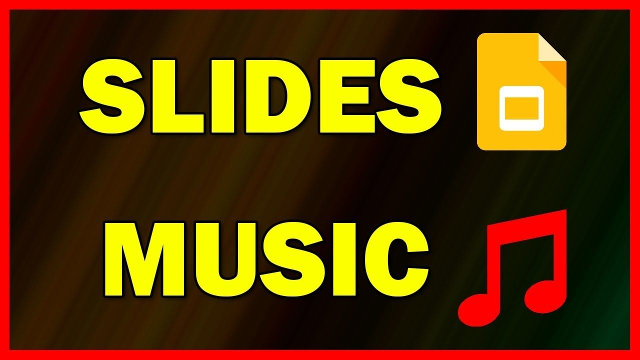 How to add a background music to google slides tutorial