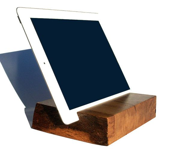 "Wood iPad Tablet Stand \ 7"" x 5 1/2"" \ White Oak \ Live Edge \ Wisconsin. SOLD"