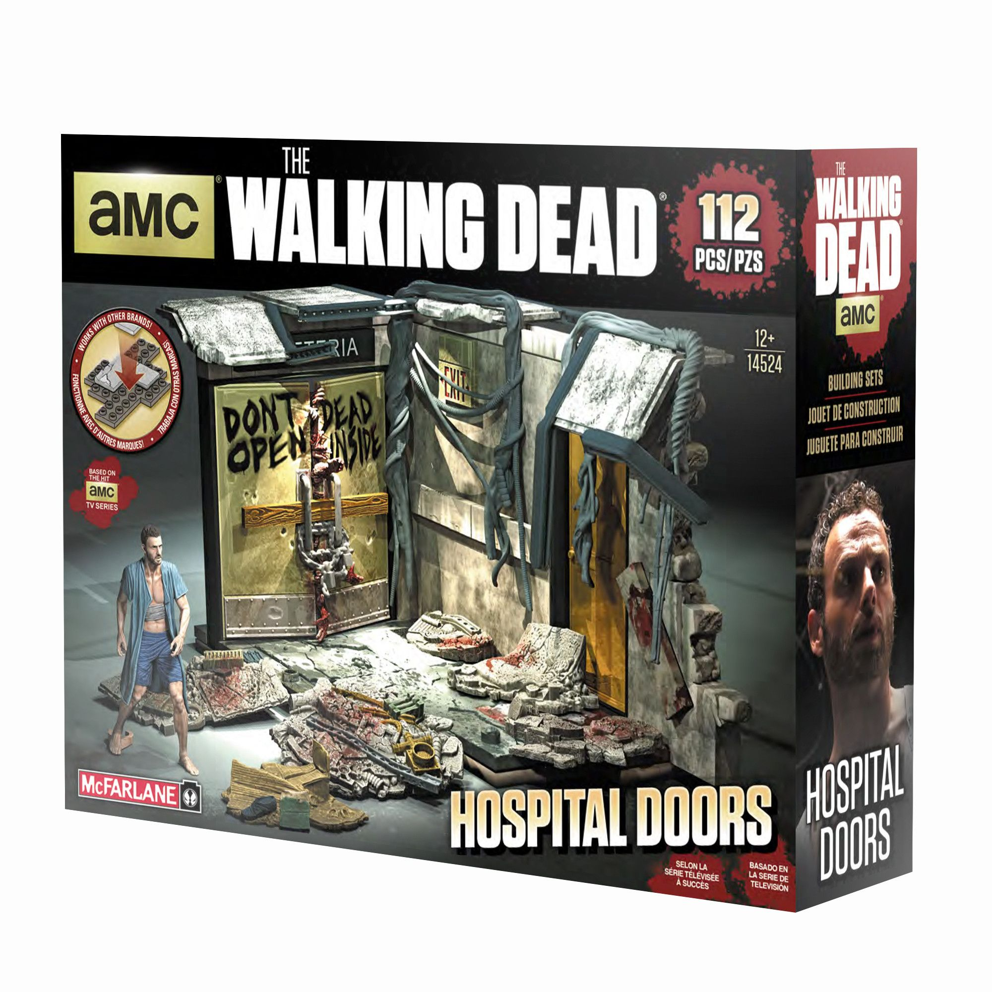 Walking dead lego daryl the walking - Mcfarlane Toys Walking Dead Atlanta Hospital Doors Construction Set