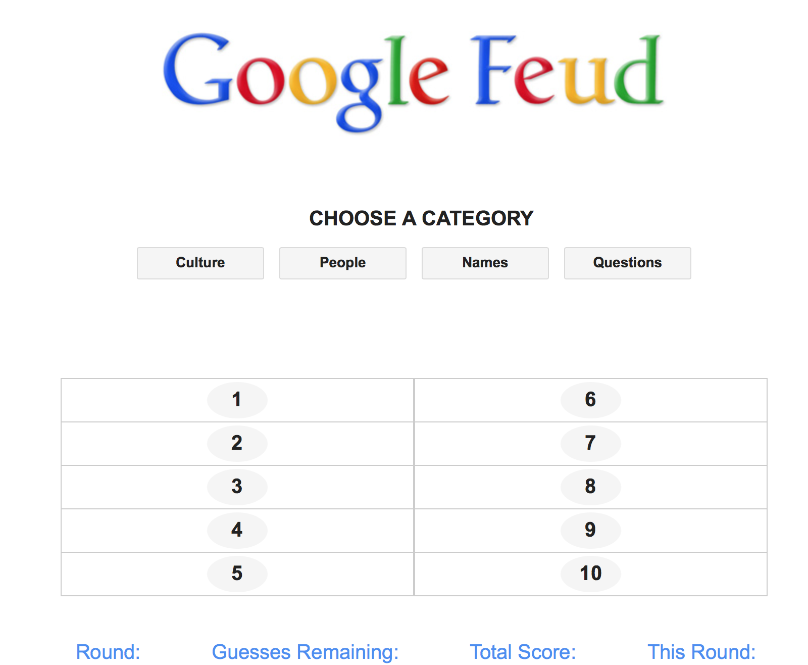 google feud answer how to build a