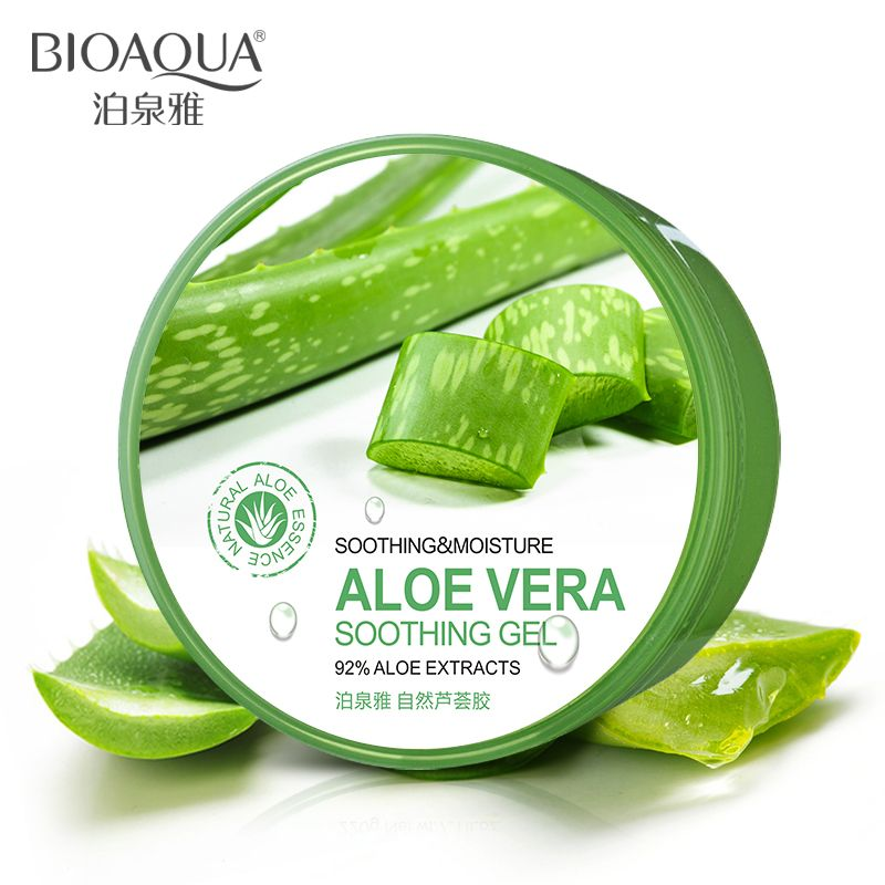 BIOAQUA 천연 알로에 베라 부드러운 젤 여드름 치료 얼굴 크림 수분 촉촉한 수리 후 태양 무료 배송