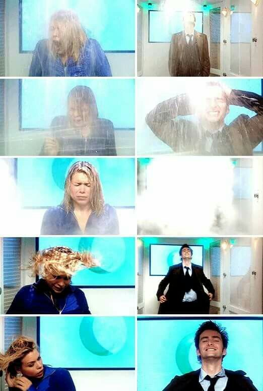 "Doctor Who "" New Earth"" (2x01) - Ten and Rose #funny"