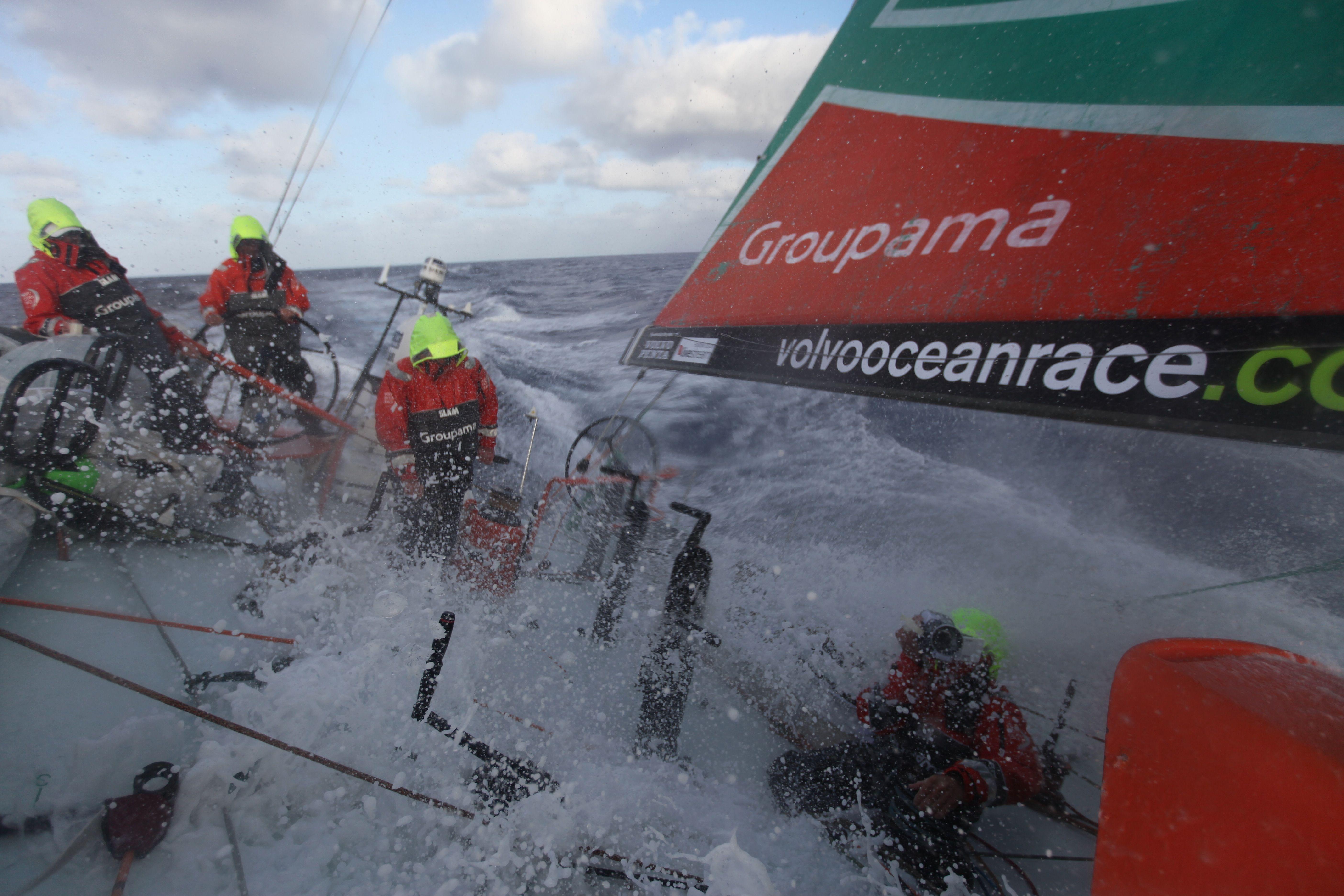 Leg 8 - Day 2 - The Groupama' deck / Credits : Yann Riou