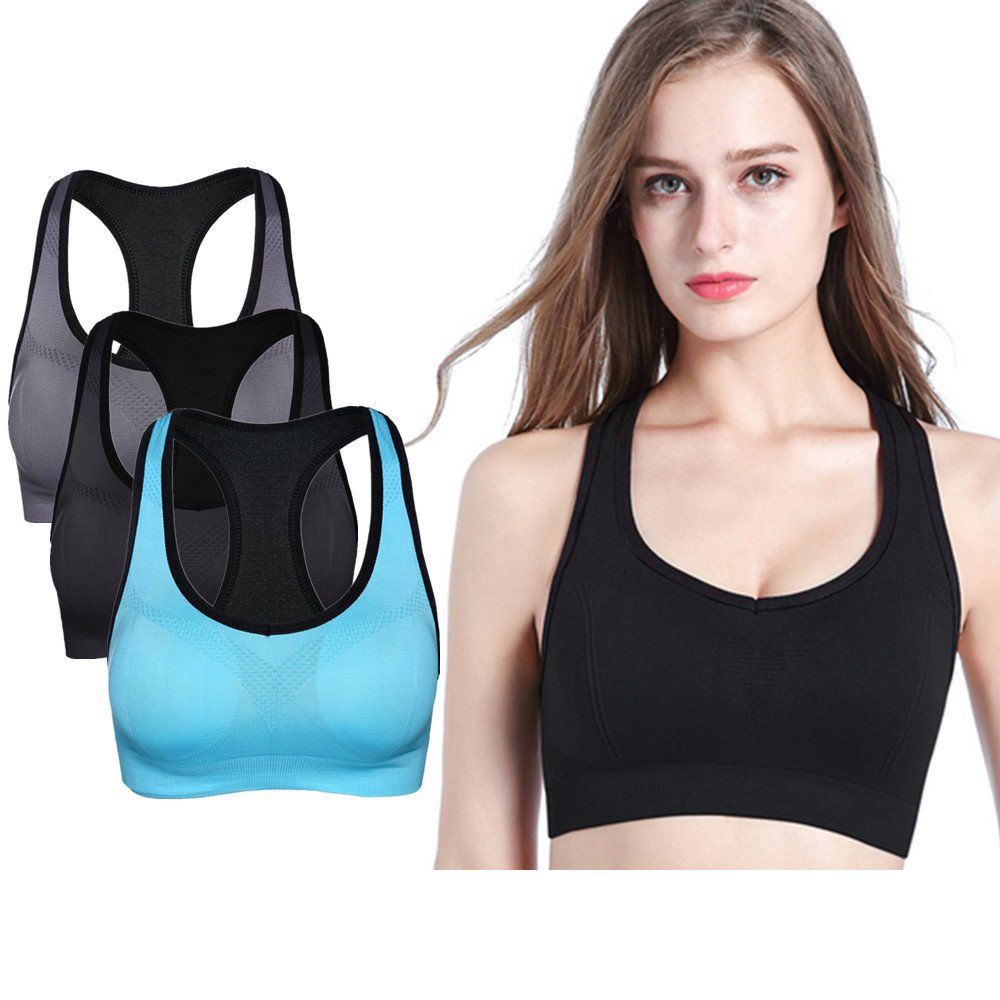 209d20605f779 High Impact Sports Bras For Large Busts Racerback Plus Size No Bounce Women  Seamless Underwire Sports Bra Pack. ♧24 7 Comfort Soft