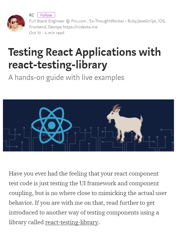 A hands-on guide on testing React   React JS   Ui framework