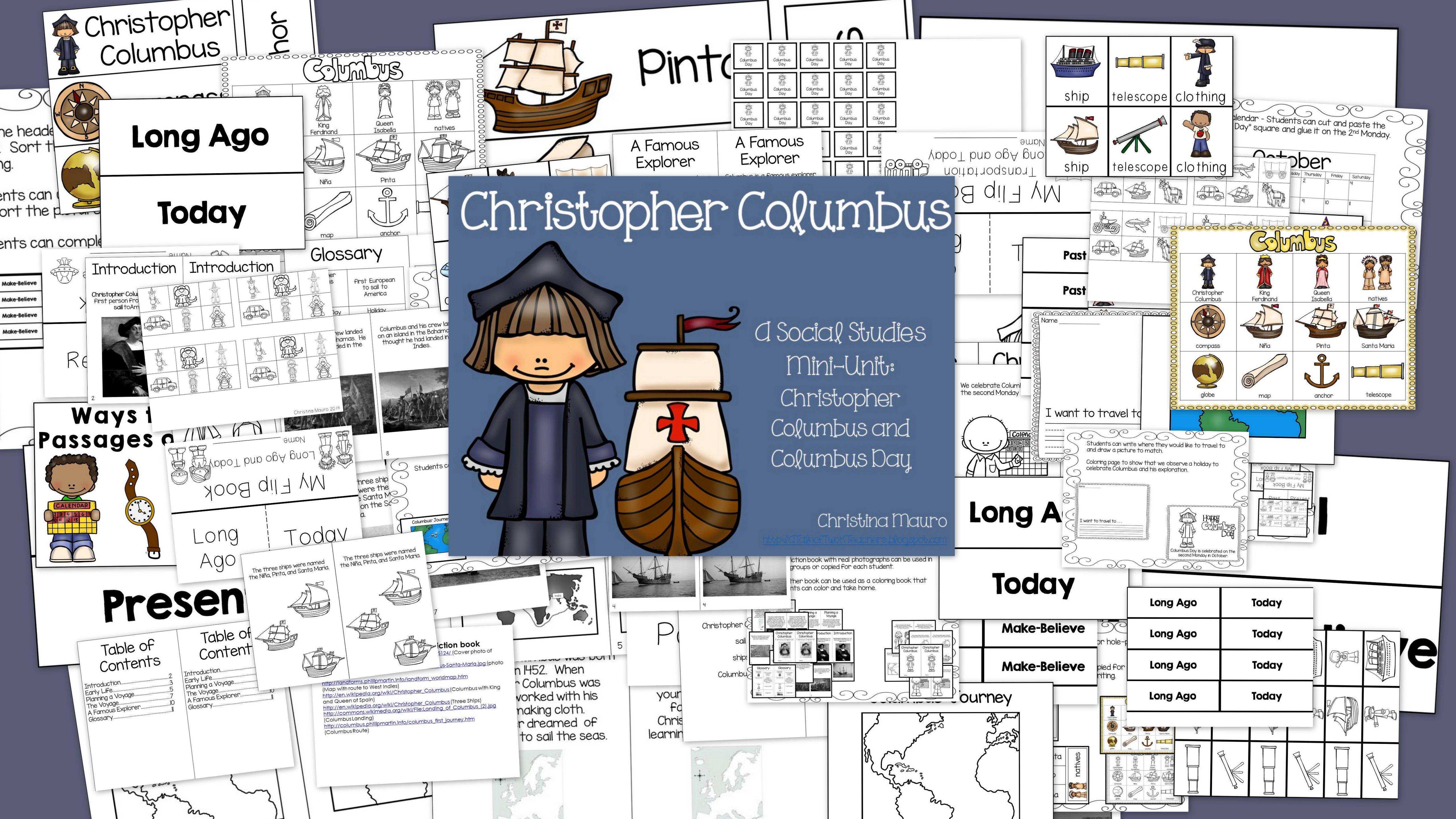 Christopher Columbus A Social Stu S Mini Unit