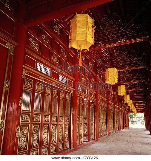 Inside The Purple Forbidden City Of The Imperial Enclosure Of The Hue Citadel Kinh Thanh In Hue In Vietnam Stock Image Kiến Truc Việt Nam Mỹ Thuật