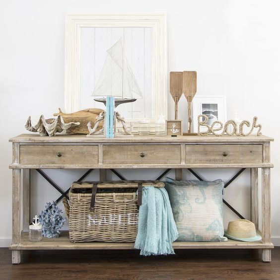 Beach House Entry Tables: The Real Hamptons Style