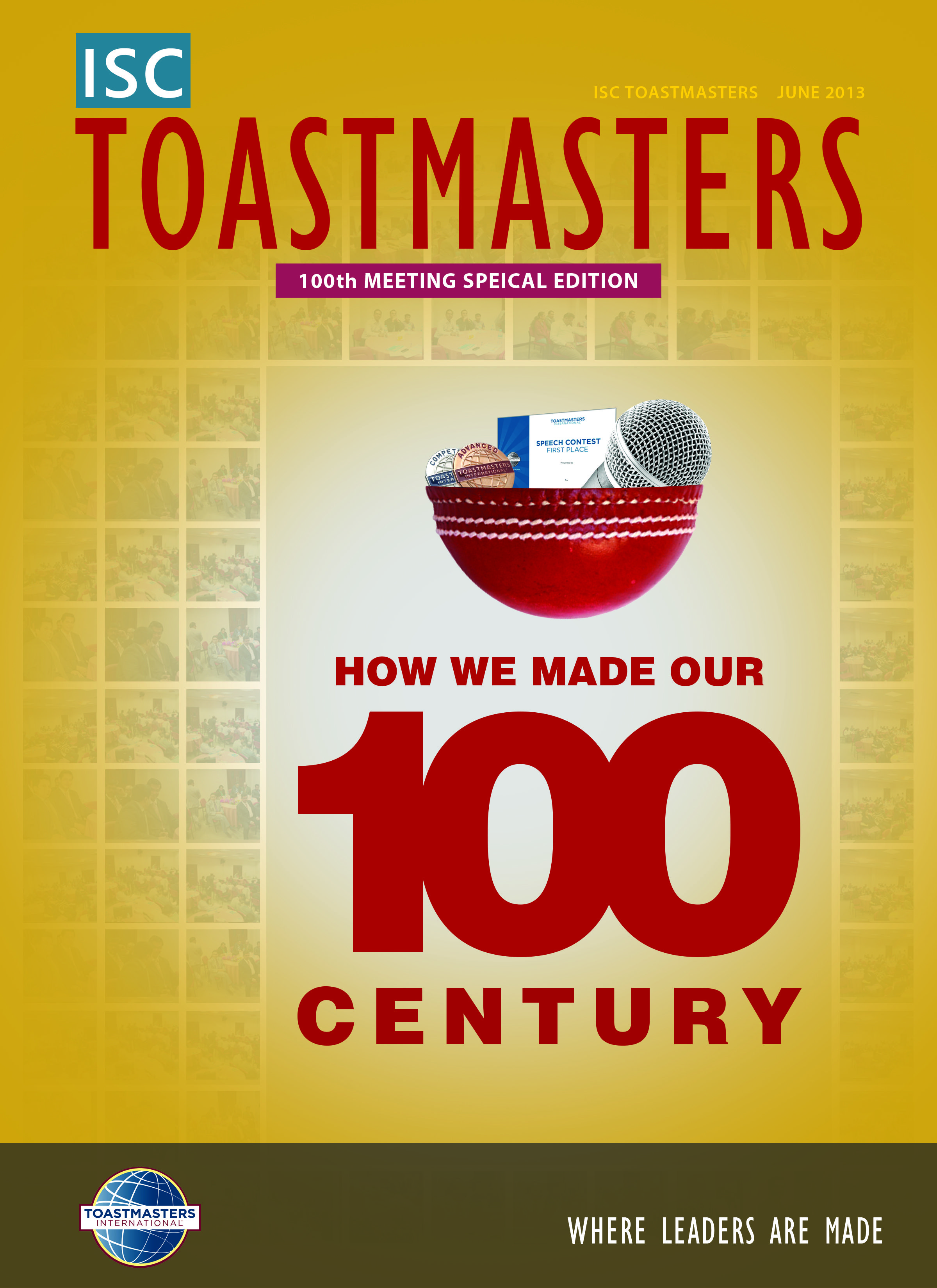 Magazine Cover Designed For Isc Toastmasters 100th Meeting Celebration Issue Agenda Template Contest Templates