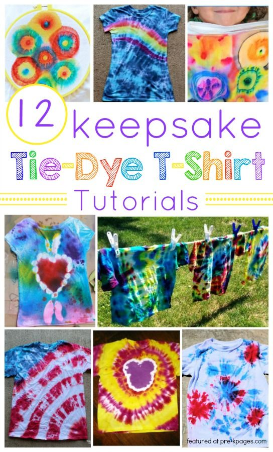 How To Make Keepsake Tie Dye T Shirts Craft Kits For Kids Tie