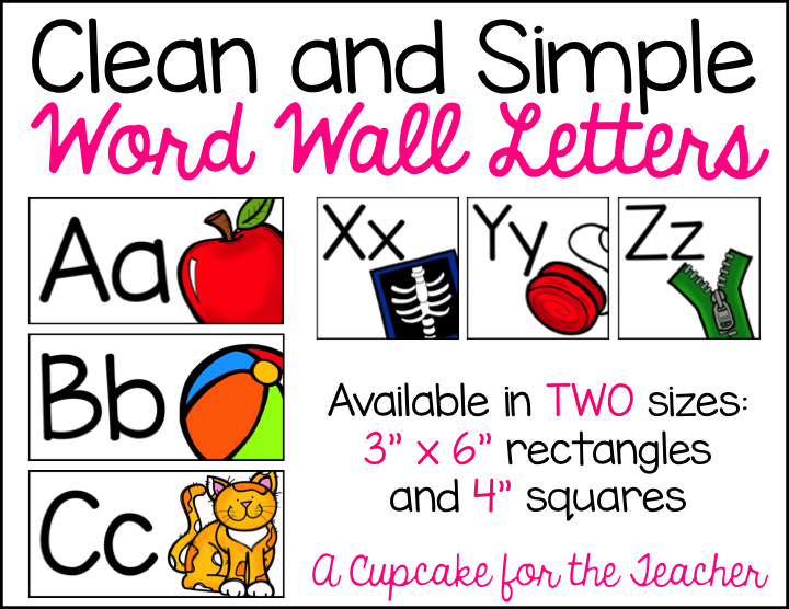 Clean and Simple Word Wall Letters Word wall letters