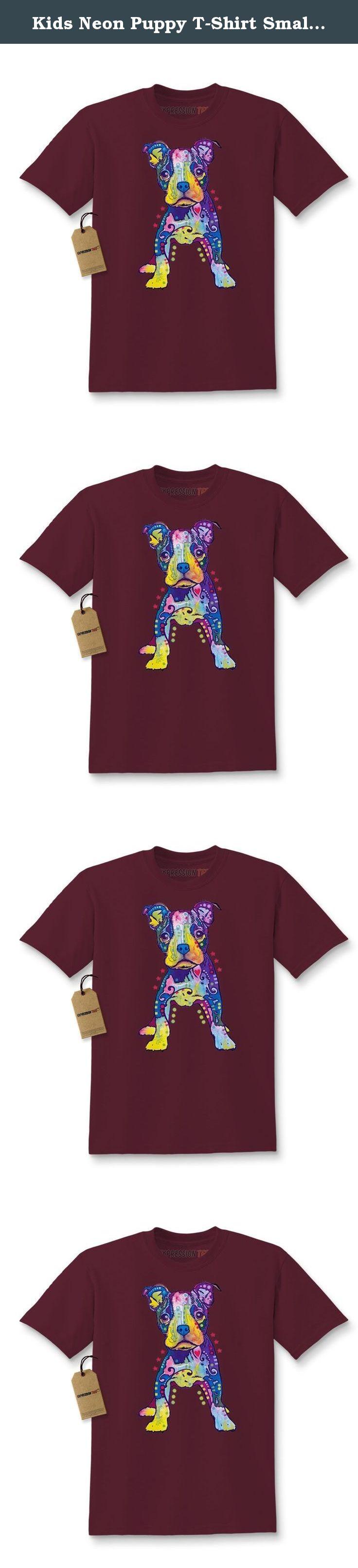 Black light t shirt ideas - Kids Neon Puppy T Shirt Small Maroon Our Neon Puppy Design Flouresces Under Blacklight