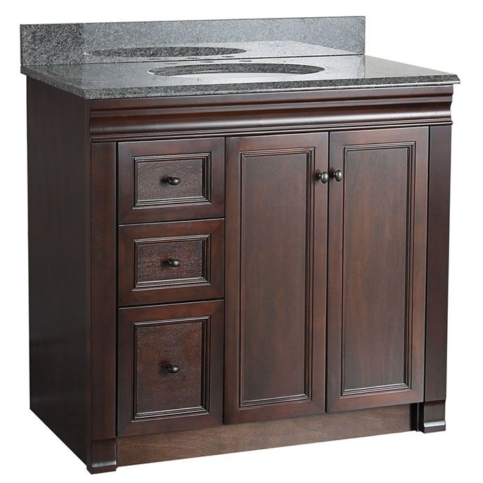 36 Inch Vanity With Drawers On Left Shawna 36 Inch Bath Vanity