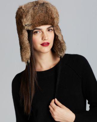 689a2a769630a6 Surell Rabbit Fur Aviator Hat Bloomingdale's Aviator Hat, Women's Hats, Hats  Online, Rabbit