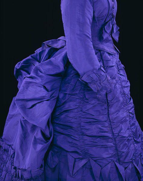 1873, United Kingdom or France - Day dress - Silk and ruching