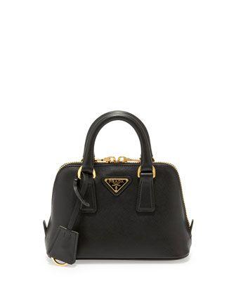 5df5eb67b8d5 Saffiano Mini Promenade Crossbody Bag, Black (Nero) by Prada at Bergdorf  Goodman.