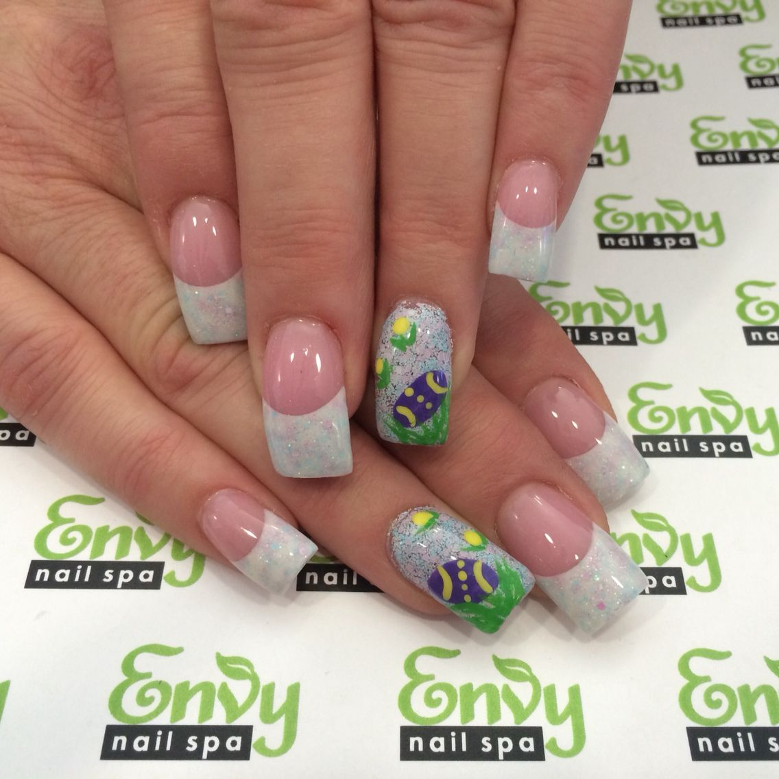 Pastel Glitter Spring Easter Egg Nails Envy Nail Spa With