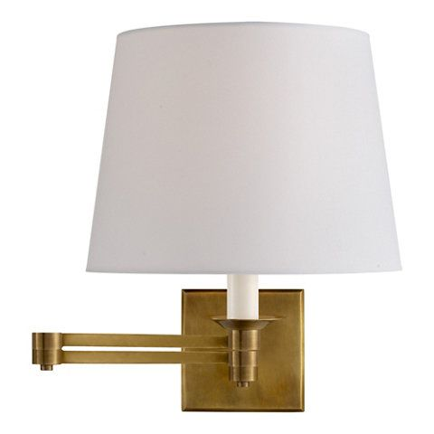 Evans Swing Arm Sconce Natural Brass Wall Lamps Sconces Lighting Products Ralph Lauren Home Ralphlaurenho Sconces Brass Wall Lamp Sconce Lighting