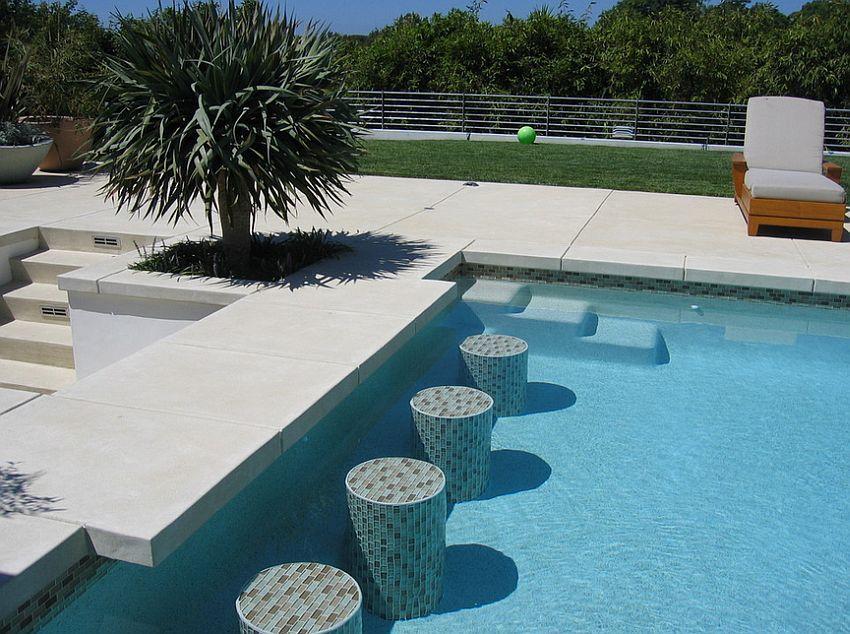 Acid etch finish concrete shapes this elegant