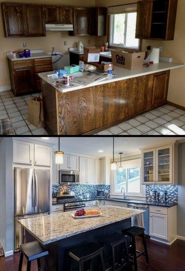 35 gorgeous small kitchen remodel ideas 13 #kitchenremodelsmall