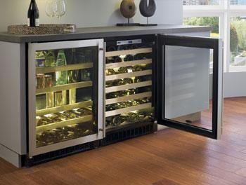 chateau wine fridge sideboard reston house wine storage wine refrigerator wine fridge. Black Bedroom Furniture Sets. Home Design Ideas