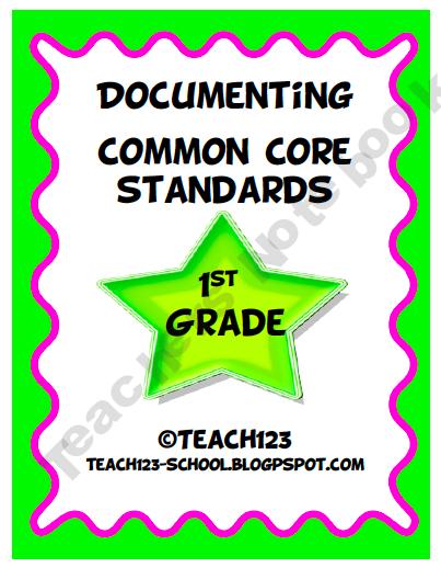 Documenting Common Core Standards - 1st Grade